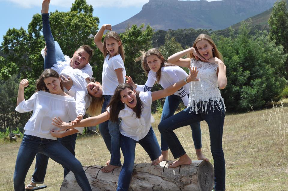 DREW AND JANNA AND THE FAB FIVE LIVING IN STELLENBOSCH, SOUTH AFRICA
